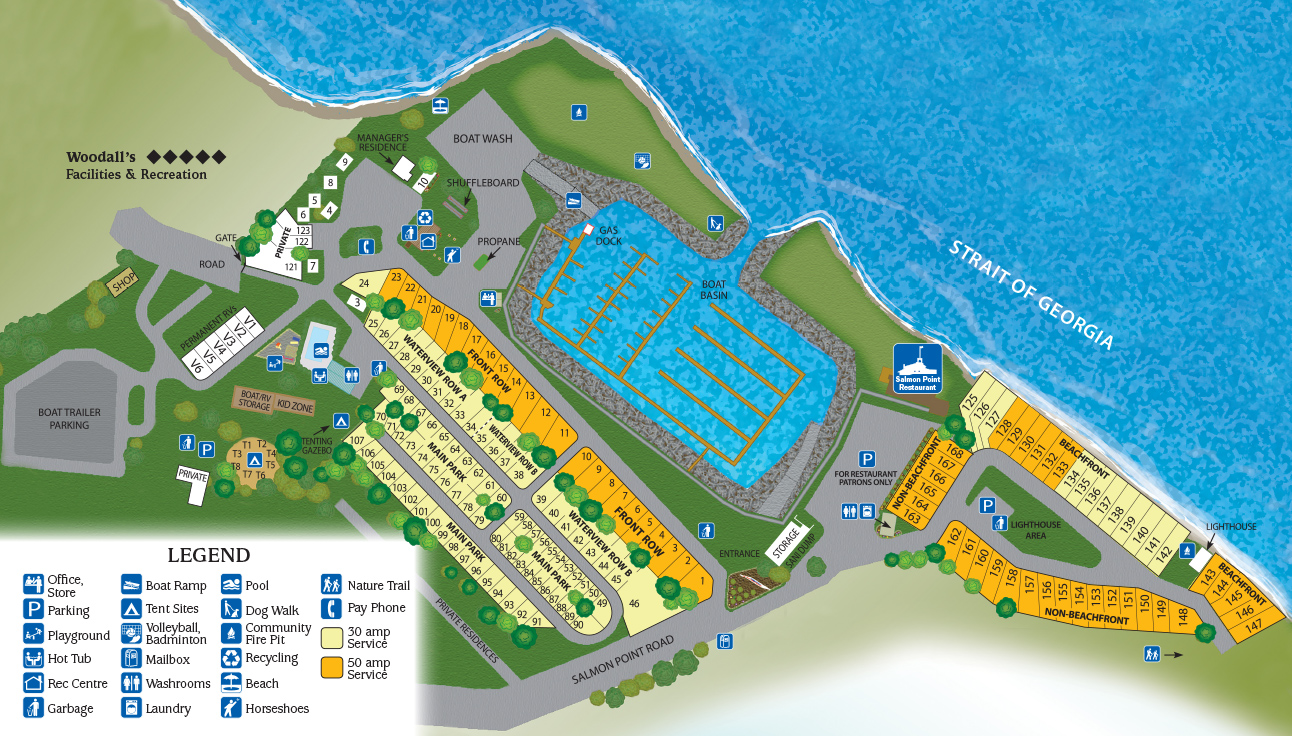 Park Map - Salmon Point Resort, RV Park & Marina Campbell River Bc Map on